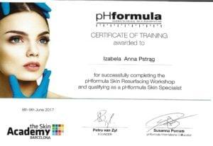 pHformula Skin Resurgacing Workshop and qualifying as a pHormula Skin Specialist