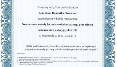 Nowoczesne metody leczenia endodontycznego przy użyciu instrumentów rotacyjnych NI-TI